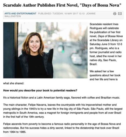 Scarsdale 10583 Article Ines Rodrigues