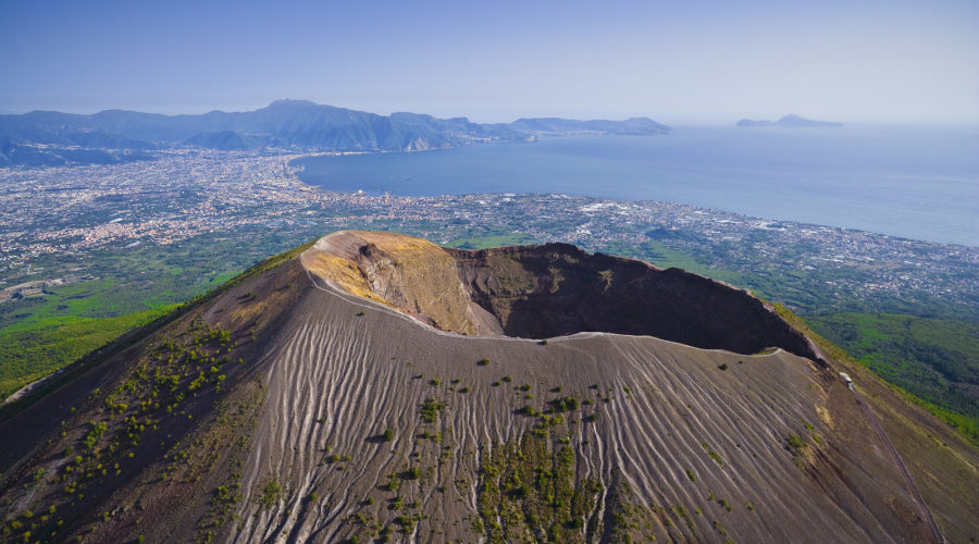 Mount Vesuvius, view of the Bay of Naples